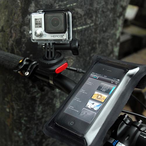Manubrio con telecamera e CamOn Klickfix