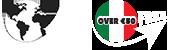 Logo mondo e over 50 euro