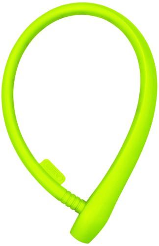 Lucchetto per bicicletta con rivestimento colorato lime